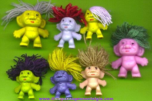 (7) Small Wishnik Troll Figures