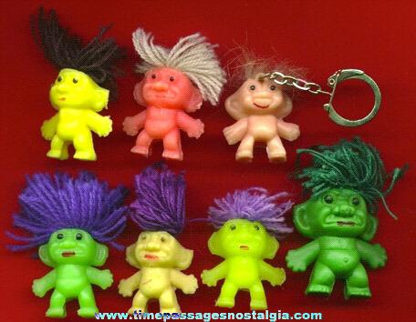 (7) Small Wish Nik / Troll Figures