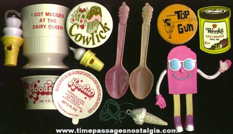 (11) Different Ice Cream Related Items