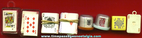 (7) Miniature Playing Card Items