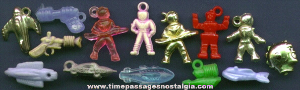 (14) 1950's Gum Ball Machine Prize SPACE Charms