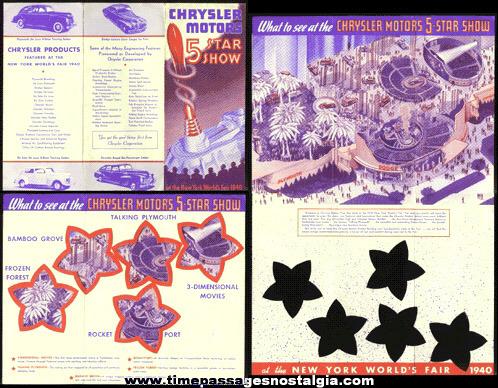 1940 New York World's Fair Chrysler Motors 5 Star Show Exhibit Brochure