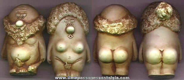Pair Of 1968 Comical Adam & Eve Figures