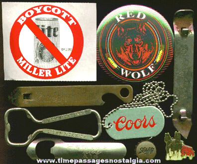 (10) Small Mixed Beer Advertising Items