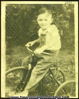 Large Old Boy On A Tricycle Photograph