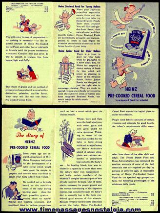 Old HEINZ Cereal Advertising Brochure