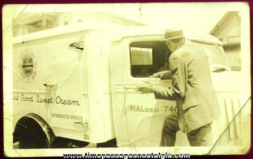 Old Milk / Ice Cream Truck Photograph