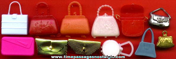 (12) Miniature Doll Purses & Pocket Books