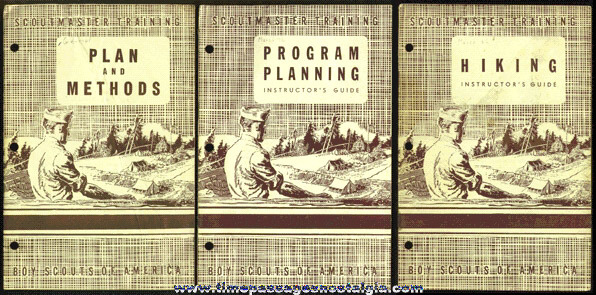 (3) Different Old Boy Scout Scoutmaster Training Manuals