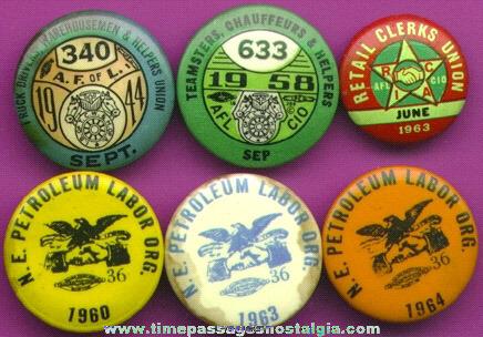 (6) Old Tin Union Pins