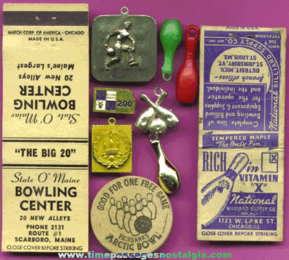 (10) Small Old Bowling Items