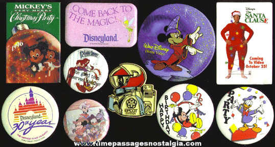 (10) Different Walt Disney Character Pins