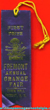 1939 Grange Fair First Place Blue Ribbon