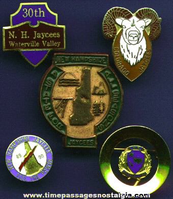 (5) Different JAYCEES Pins