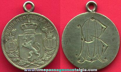 Old Engraved Love Token Coin / Medallion