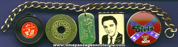 (5) Small Elvis Presley Items