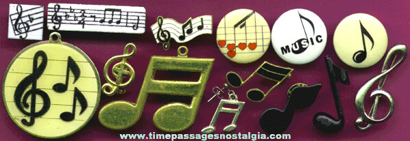 (14) Small Musical Note Items