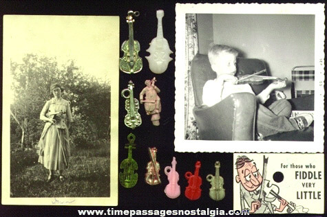 (12) Small Violin / Fiddle Related Items