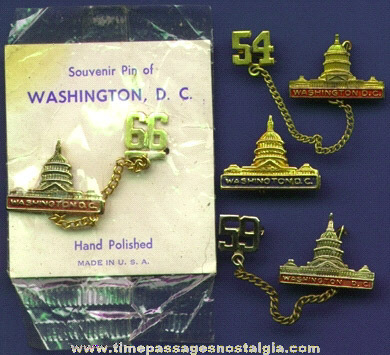 (4) Old Washington, D.C. Capital Building Pins