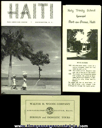 (3) 1953 - 1954 Haiti Tourist Paper Items