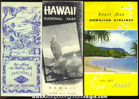 (3) 1950's Hawaii Tourist Paper Items