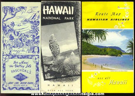 (3) 1950's Hawaii Tourist Paper Items