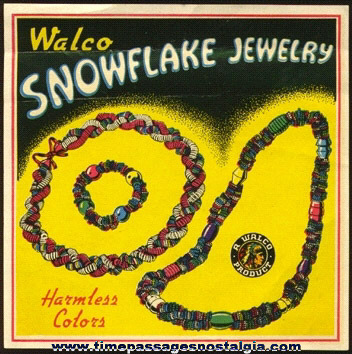 1942 Boxed WALCO Snowflake Jewelry Kit