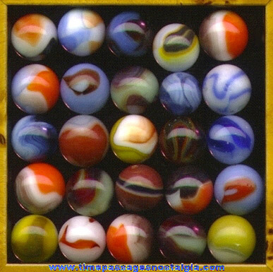 (25) Colorful Machine Made Marbles
