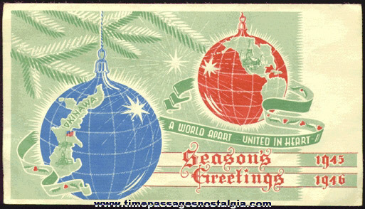 1945 OKINAWA Christmas Card