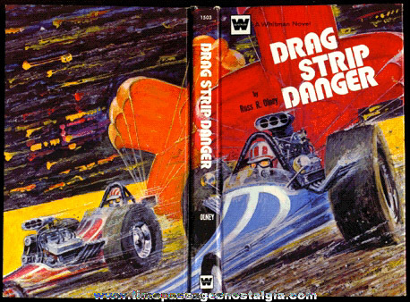 �1972 WHITMAN Hard Cover Drag Racing Book