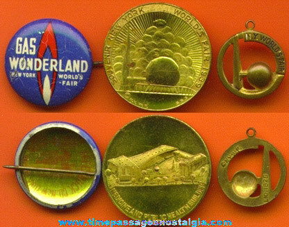 (3) Small 1939 New York World's Fair Items