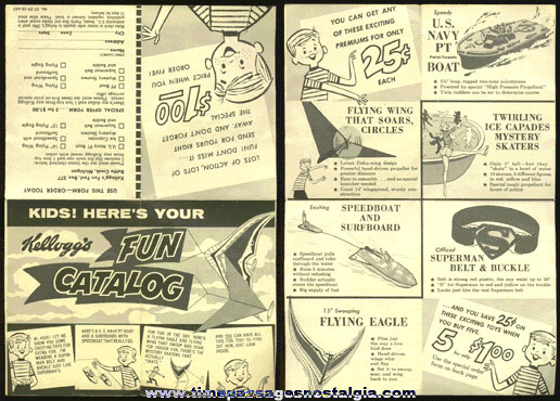 "1950's Kellogg'S Cereal Premium ""FUN CATALOG"""