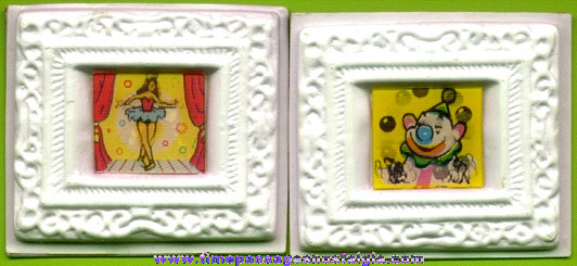 (2) Framed Cereal Premium Flicker Picture Squares