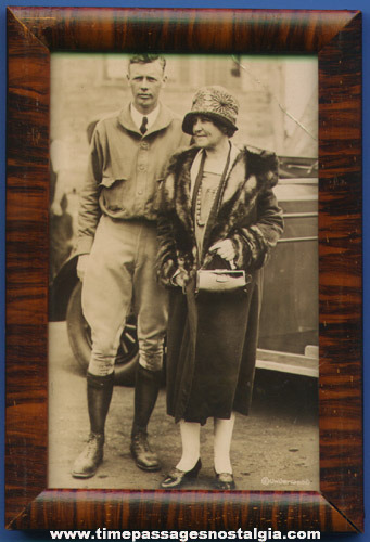 Old Framed Charles Lindbergh Photograph