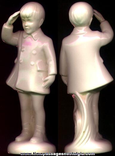Old John John Kennedy Saluting Figurine
