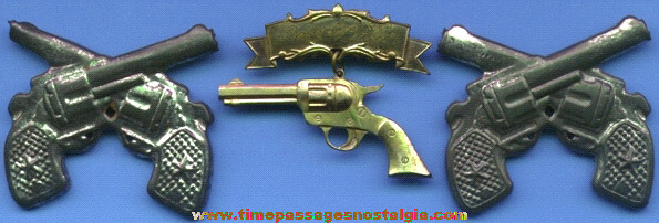 (3) Old Metal Gun Pins