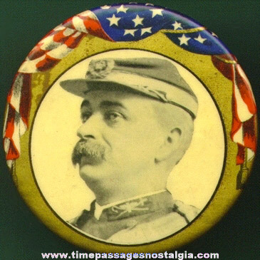 Old Large G.A.R. Or CIVIL WAR Veteran Celluloid Picture Button