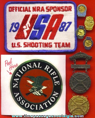 (8) Small NATIONAL RIFLE ASSOCIATION Items