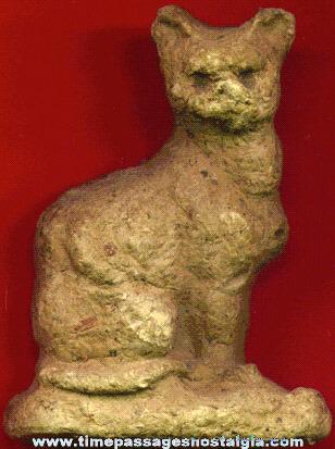 Old Paper Mache Cat Figure