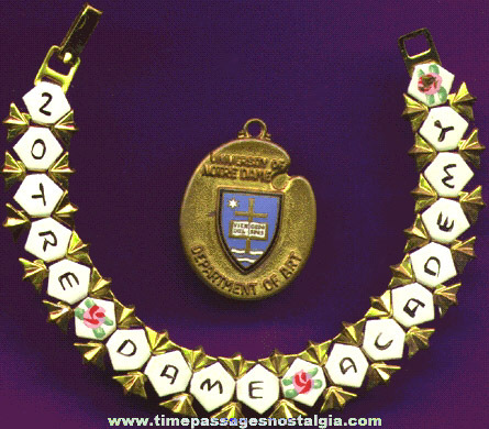 (2) Old Notre Dame Jewelry Items