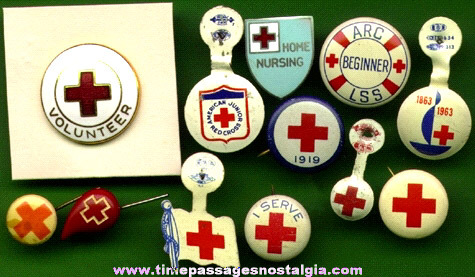 (12) Small Old Red Cross Items