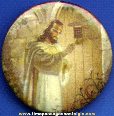 Old Religious Pocket Mirror