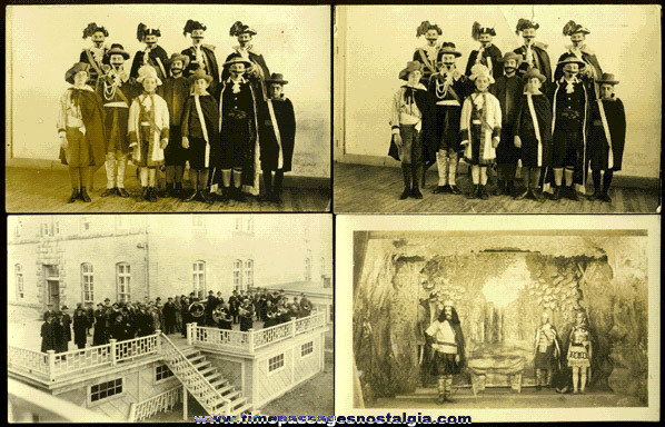 (4) 1920's Theatre & Band Real Photo Post Cards