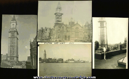 (4) 1930's Boston, Massachusetts Skyline Photographs