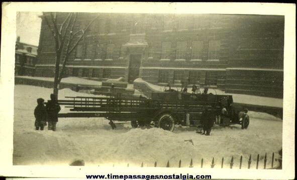 1922 Boston, Massachusetts Ladder Fire Truck Photograph