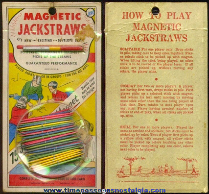 Old Unopened Magnetic Jackstraws Game