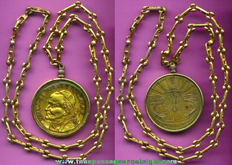 Pope Medal With Nice Bezel & Chain