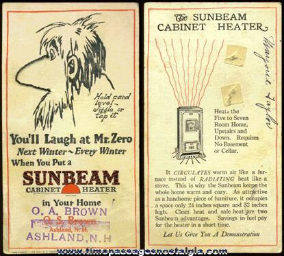 1925 Advertising Premium Puzzle Card