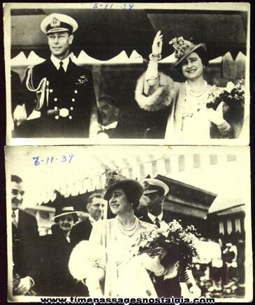 (2) 1939 King George VI & Queen Elizabeth Photographs