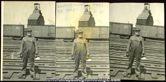 (3) 1937 Massachusetts Railroad Photographs